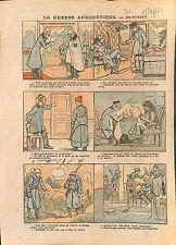 Caricature Guerre Revolution Kaiser Poilus Iere Classe WWI 1917 ILLUSTRATION