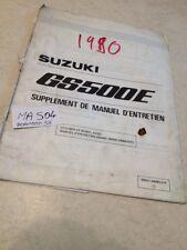 Suzuki GS500E GSE 500 supplement manuel atelier workshop service manual éd.90