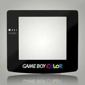 Game Boy Color Screen Lens Glass Black for Original Nintendo Adhesive