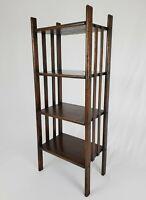 "Antique Arts & Crafts Mission Style Quarter Sawn Oak 4 Shelf Book Case 39"""