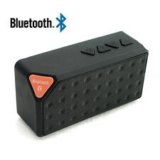 Portable X3 Bluetooth Wireless Mini Speaker TF Audio FM Radio Built-in Mic BLACK