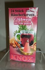 KNOX CHRISTMAS INCENSE CONES FROM GERMANY BOX OF 24 PCS...GLUHWEIN SCENT