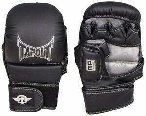 BNIP TapouT Size L XL Elite Series Black Grappling Training Gloves