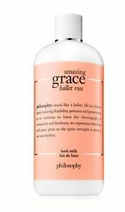 Philosophy AMAZING GRACE Ballet Rose Bath Milk 16 oz. NEW (Set of 2)