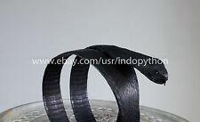 Leather Belt Genuine Cobra Exotic Snake Skin Head Belt Unisex Handmade Black