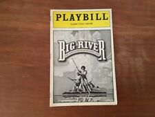 Playbill Eugene O'Naill Theatre Big River August 1987
