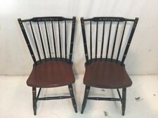 Hitchcock chair co Black/Riverton Stick Back side Chairs used hitchcock dot com