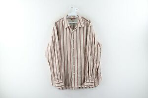 Banana Republic Mens XL Slim Fit Multicolor Striped Pearl Snap Button Shirt