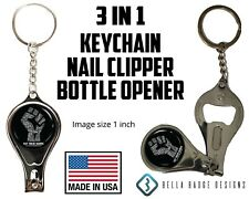 Black Lives Matter Keychain Key Chain Nail Clippers Bottle Opener, 3 in 1