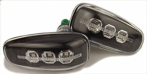 Eagle Eyes LED Side Lights Repeaters Smoked Black For Mercedes C208 1997-2002