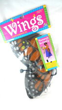 Child's Costume MONARCH BUTTERFLY WINGS With Headpiece & Flutter Ribbons