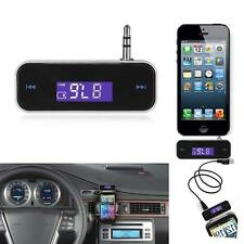 3.5mm Wireless FM Transmitter Radio Adapter LCD Display For iPhone 7 Plus 6S 5S