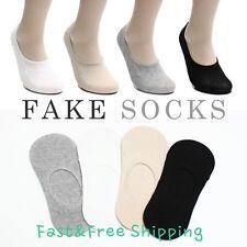 Womens Lday Low Cut No Show Invisible Fake Footsies Premium Quality Cotton Socks