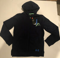 Under Armor Cold Gear Full Zip Navy Hoodie Sweat Shirt Youth XL Loose NWT
