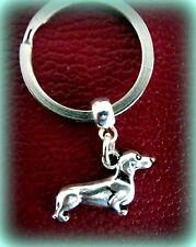 Doxie DACHSHUND DOG KEYCHAIN Jewelry  Art Deco Style - Weiner Sausage Puppy Pup