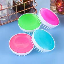 1Pc Head Massage Comb Resin Cleaning Scrubber Hair Scalp Shampoo Brush