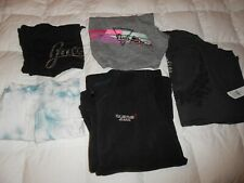 LOT LADIES LARGE TANK TOPS LS SHIRTS PINK GUESS AMERICAN EAGLE DESIGNER CLOTHES
