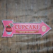 Metal Tin Sign cupcake best in town Bar Pub Vintage Retro Poster Cafe ART