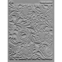 Lisa Pavelka Texture Stamp Mold Sheet Mat Polymer Clay TOOLED LEATHER Made USA