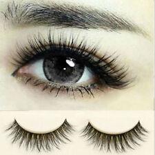 10 Pairs Natural Long Eye Lashes Makeup Handmade Thick Fake False Eyelashes Set