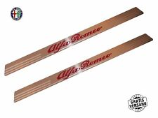 Entry sills Alfa Romeo Kit Set 2-tlg Stainless Steel Universal engraved with logo