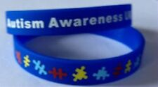 Autism Awareness Jewellery, Autism Wristband, Blue, 8in, Adult size