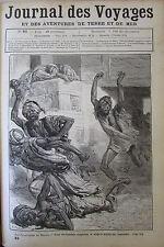 JOURNAL DES VOYAGES N° 82 de 1879 FANATIQUE AU MAROC / LA CHASSE AUX CARIBOUS