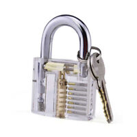 Transparent Practice Lock Clear Visible Inside Padlock For Locksmith Practice #C