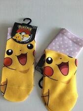 Pokemon rose polka dot chaussettes taille 4 5 6 7 8 noël stocking pikachu