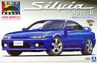 Aoshima 08621 S15 Nissan Silvia Spec.R Brilliant Blue 1/24 Pre-painted model kit