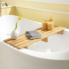 70 cm sciupati BAMBOO vasca da bagno Caddy, vasca da bagno ponte Tidy vassoio, RIVISTA, Laptop Set