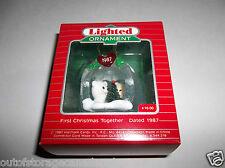 Hallmark Lighted Ornament First Christmas Together 1987 QLX7087 - New