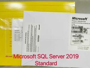 Brand New Sealed, SQL Server 2019 Standard 16 Core License Key DVD & COA