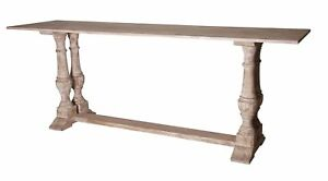 """84"""" L Console Table Reclaimed Douglas Fir One of a Kind Hand Turned Legs"""