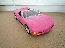 BARBIE REMOTE CONTROLLED HOT PINK CORVETTE WITH LIGHTS / NO REMOTE