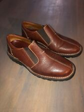 H.S. Trask Brown Pebbled Leather  Slip On Casual Shoes Men's Size 8.5 M