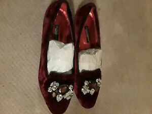 Red Velvet Dolce Gabbana Flat shoes - Loafers Flats