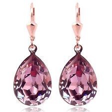 Ohrringe mit Kristallen von Swarovski® Mauve Rosegold Pink NOBEL SCHMUCK