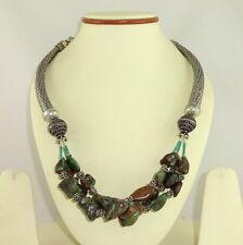 Natural Tibetan Turquoise Gemstone Beaded Necklace 122 Grams