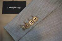 Ermenegildo Zegna Roma Fit Gray Striped Wool 2 Pc Suit Jacket Pants Sz 40R