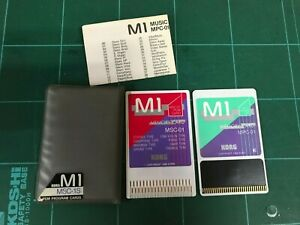 KORG M1 PCM PROGRAM CARDS BRASS MSC-1S MSC-01/MPC-01 w/ case