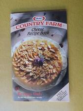 KRAFT COUNTRY FARM CHEESE RECIPE COOK BOOK 1991