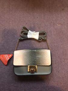 Grey Pink Snakeskin Handbag