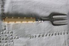 FORCHETTA ANTICA IN ARGENTO E SHEFFIELD POSATA INGLESE cm 20 VINTAGE BREAD FORK