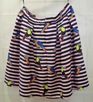 Eloquii Womens 18 Pink Black Stripe Parrot Skirt NWT Size 18