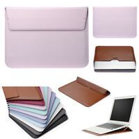 """Slim Leather Bag Pouch Sleeve Case Cover for MacBook Air Retina 11"""" 12"""" 13"""" 15"""""""