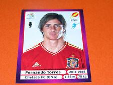 305 FERNANDO TORRES CHELSEA ESPAGNE ESPAÑA  FOOTBALL PANINI UEFA EURO 2012