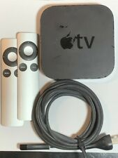 Apple TV (3rd Generation) MD199LL/A - Black with Two Remotes and Power Cord