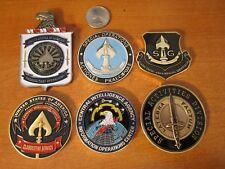 Set of 6 CIA Central Intelligence Agency Challenge Coins SAD SOG Spy vs Spy
