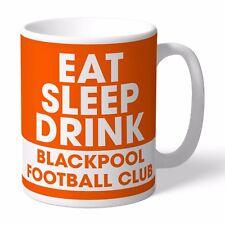 Personalised BLACKPOOL Football Club FC Eat Sleep Drink Mug Gift The Tangerines